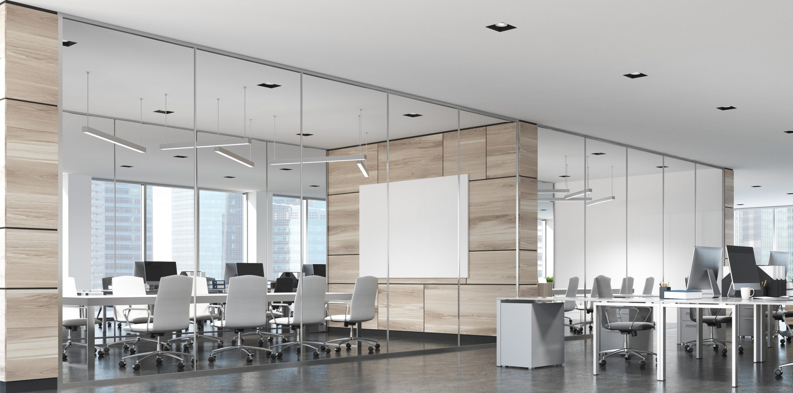 Interested in a glass wall system for space management?